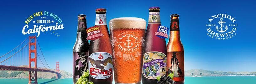 Cervejas Anchor chegam ao Brasil com exclusividade para assinantes Beer Pack do Clube do Malte