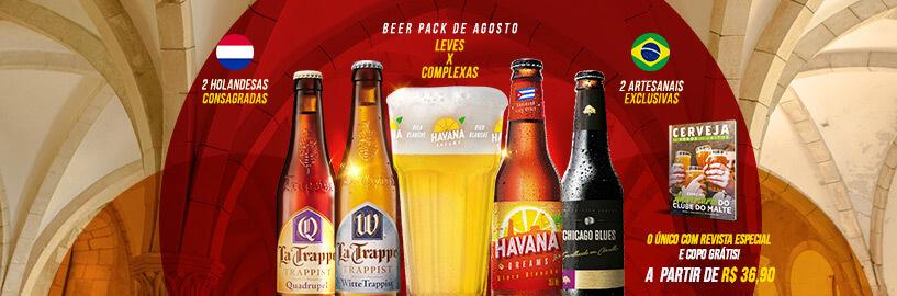 Leves vs. Complexas! Conheça a seleção do Beer Pack de agosto