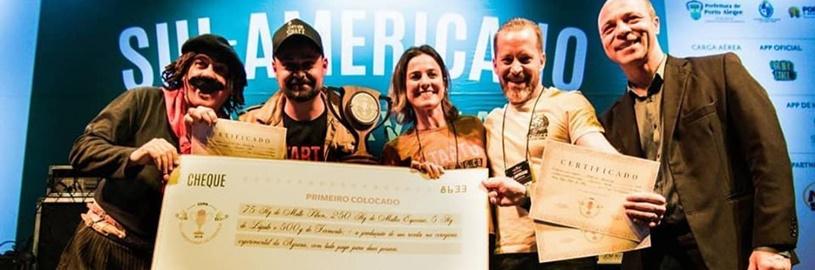 Os vencedores da 1ª edição da Copa Sul-Americana de Cerveja